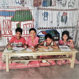 Rohingya made wooden study bench
